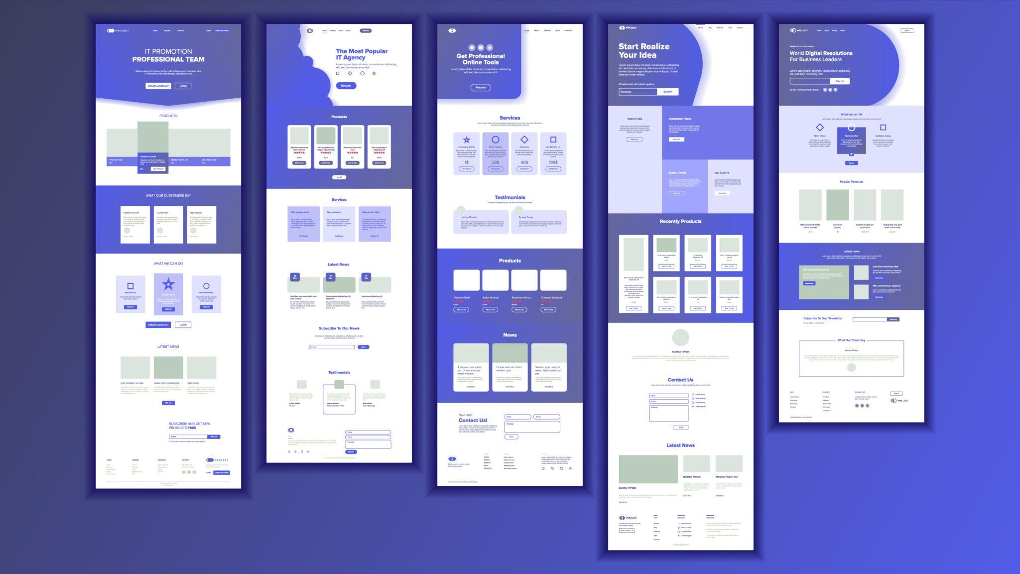 Designkalkulator bilde av sider på en nettside